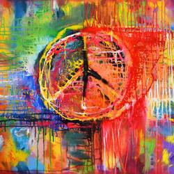 wheel of faith, 36 x 30 inch, aatmica ojha,abstract paintings,paintings for living room,canvas,acrylic color,36x30inch,GAL026897807