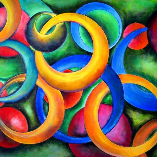 intertwined bonds, 30 x 24 inch, aatmica ojha,abstract paintings,paintings for office,canvas,acrylic color,30x24inch,GAL026897829