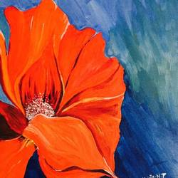 shades of acrylic, 14 x 18 inch, shilpa nj,paintings for living room,flower paintings,canvas,acrylic color,14x18inch,GAL032347841