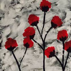 shades of acrylic, 14 x 18 inch, shilpa nj,paintings for living room,flower paintings,canvas,acrylic color,14x18inch,GAL032347842