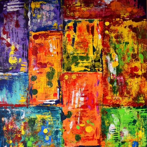 the mandir, 24 x 36 inch, aatmica ojha,abstract paintings,paintings for living room,canvas,acrylic color,24x36inch,GAL026897863