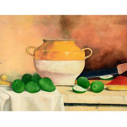 indian pickle, 15 x 11 inch, uttam ogale,still life paintings,paintings for dining room,paper,oil,15x11inch,GAL032457866