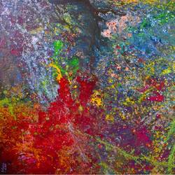 galactic spring , 36 x 24 inch, aatmica ojha,abstract paintings,paintings for living room,canvas,acrylic color,36x24inch,GAL026897933