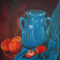 splash of blue, 12 x 16 inch, cheryl monis,still life paintings,paintings,canvas,oil,12x16inch,GAL032937942