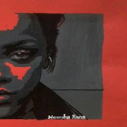 riri fenty, 40 x 38 inch, narendra rana,drawings,portrait drawings,paintings for living room,paintings for bedroom,paintings for office,paintings for hotel,drawing paper,acrylic color,40x38inch,GAL032967952
