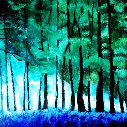 forest, 34 x 22 inch, mahesh bommanalli,landscape paintings,paintings for living room,canvas,acrylic color,34x22inch,GAL0364796
