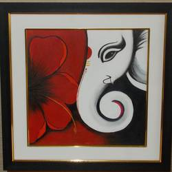 vinayaka, 17 x 17 inch, shreyasi chakraborty,ganesha paintings,paintings for living room,canvas,acrylic color,17x17inch,GAL031717969,vinayak,ekadanta,ganpati,lambodar,peace,devotion,religious,lord ganesha,lordganpati,ganpati,ganesha,lord ganesh,elephant god,religious,ganpati bappa morya,flower,ganpati bappa morya,ganesh chaturthi,ganesh murti,elephant god,religious,lord ganesh,ganesha,om,hindu god,shiv parvati, putra,bhakti,blessings,aashirwad,pooja,puja,aarti,ekdant,vakratunda,lambodara,bhalchandra,gajanan,vinayak,prathamesh,vignesh,heramba,siddhivinayak,mahaganpati,omkar,mushak,mouse,ladoo,modak