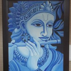 muralidhara, 13 x 18 inch, shreyasi chakraborty,religious paintings,paintings for living room,canvas,acrylic color,13x18inch,GAL031717973