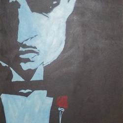 the godfather, 15 x 22 inch, vaishali patil,figurative paintings,paintings for bedroom,canvas board,acrylic color,15x22inch,GAL033027981