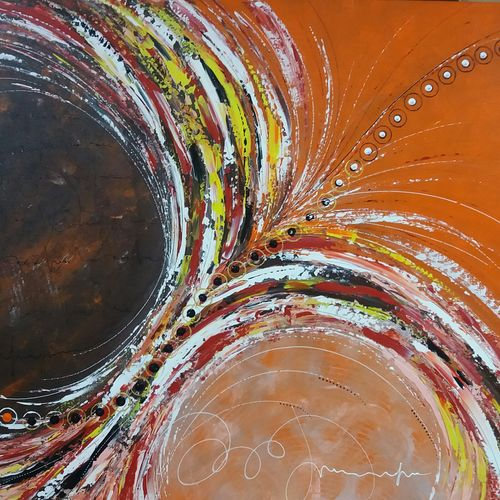freedom abstract, 40 x 30 inch, babita maheswary,abstract paintings,paintings for living room,canvas,acrylic color,40x30inch,GAL032958006