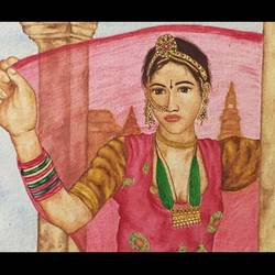 rajasthani girl , 13 x 15 inch, vandana varma,portrait paintings,paintings for living room,brustro watercolor paper,watercolor,13x15inch,GAL033428034