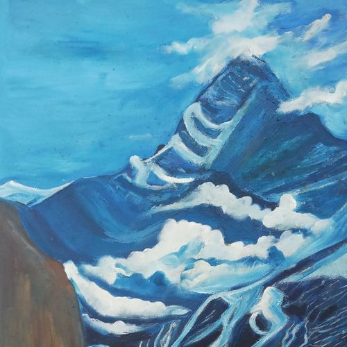 victory, 21 x 31 inch, ruchira jamwal,landscape paintings,paintings for living room,canvas,oil,21x31inch,GAL029378053