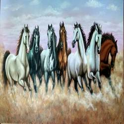 horse  for vastu, 48 x 24 inch, preeti dungarwal,animal paintings,paintings for living room,horse paintings,canvas,acrylic color,48x24inch,GAL025128059
