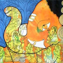 ganesha fusion art, 30 x 24 inch, colorful art arts and crafts,religious paintings,paintings for living room,ganesha paintings,canvas,acrylic color,30x24inch,GAL0393806,vinayak,ekadanta,ganpati,lambodar,peace,devotion,religious,lord ganesha,lordganpati,ganpati bappa morya,ganesh chaturthi,ganesh murti,elephant god,religious,lord ganesh,ganesha,om,hindu god,shiv parvati, putra,bhakti,blessings,aashirwad,pooja,puja,aarti,ekdant,vakratunda,lambodara,bhalchandra,gajanan,vinayak,prathamesh,vignesh,heramba,siddhivinayak,mahaganpati,omkar,mushak,mouse,ladoo,modak