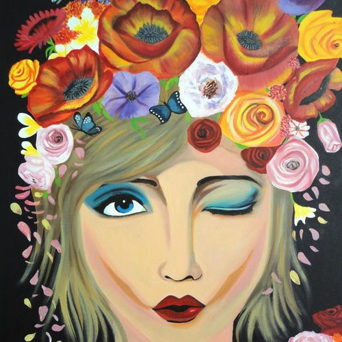 girl , 24 x 30 inch, amita dand,figurative paintings,paintings for living room,canvas board,oil,24x30inch,GAL014678070