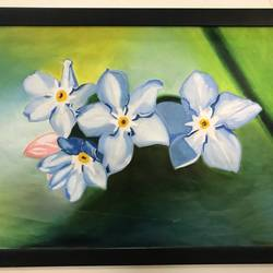 jasmine flower, 10 x 10 inch, anu  kumar,landscape paintings,paintings for bedroom,thick paper,acrylic color,10x10inch,GAL033888102
