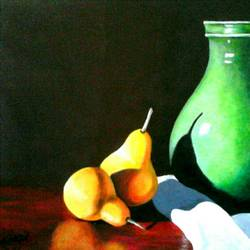 still life 1, 30 x 20 inch, nilesh nikalje,still life paintings,paintings for dining room,handmade paper,acrylic color,30x20inch,GAL033918111