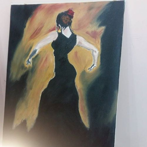 black surity, 21 x 31 inch, vivek kumar,portraiture,paintings for living room,figurative paintings,canvas,oil,21x31inch,GAL033978130