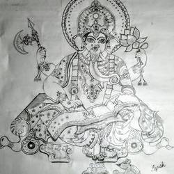 ganesh, 19 x 24 inch, ayush kumar ,portrait drawings,paintings for office,ganesha paintings,canvas,graphite pencil,19x24inch,GAL033148139,vinayak,ekadanta,ganpati,lambodar,peace,devotion,religious,lord ganesha,lordganpati,ganpati bappa morya,ganesh chaturthi,ganesh murti,elephant god,religious,lord ganesh,ganesha,om,hindu god,shiv parvati, putra,bhakti,blessings,aashirwad,pooja,puja,aarti,ekdant,vakratunda,lambodara,bhalchandra,gajanan,vinayak,prathamesh,vignesh,heramba,siddhivinayak,mahaganpati,omkar,mushak,mouse,ladoo,modak