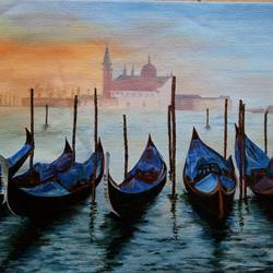 venice, 17 x 14 inch, cheryl monis,art deco paintings,canvas,oil,17x14inch,GAL032938151