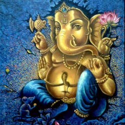 ganapathi in gold , 18 x 24 inch, dinak divakaran,paintings for living room,ganesha paintings,religious paintings,paintings for dining room,paintings for bedroom,paintings for office,canvas,mixed media,18x24inch,GAL02298173,vinayak,ekadanta,ganpati,lambodar,peace,devotion,religious,lord ganesha,lordganpati,ganpati,ganesha,lord ganesh,elephant god,religious,ganpati bappa morya,mouse,mushakraj,ladoo,sweets,lotus,ganpati bappa morya,ganesh chaturthi,ganesh murti,elephant god,religious,lord ganesh,ganesha,om,hindu god,shiv parvati, putra,bhakti,blessings,aashirwad,pooja,puja,aarti,ekdant,vakratunda,lambodara,bhalchandra,gajanan,vinayak,prathamesh,vignesh,heramba,siddhivinayak,mahaganpati,omkar,mushak,mouse,ladoo,modak