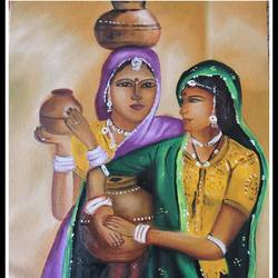 woman, 12 x 16 inch, kanthi sukanthi,paintings,figurative paintings,paintings for bedroom,canvas,oil,12x16inch,GAL07248180