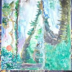 all about nature, 8 x 8 inch, pradhnya zalte,paintings,nature paintings,paintings for living room,canvas,watercolor,8x8inch,GAL034538213Nature,environment,Beauty,scenery,greenery