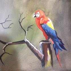 bird, 14 x 12 inch, ranjeet parab,wildlife paintings,paintings for living room,square,thick paper,poster color,14x12inch,GAL034568240