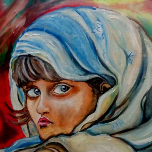 girl, 20 x 30 inch, ruchi singh,figurative paintings,paintings for living room,canvas board,oil,20x30inch,GAL034588242