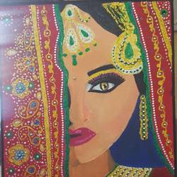 the perfect bride, 18 x 14 inch, ranjna  rai,paintings,conceptual paintings,paintings for living room,canvas,oil,18x14inch,GAL034808328