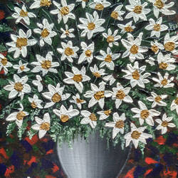 the vase , 13 x 17 inch, harini  suresh,flower paintings,paintings for living room,canvas,acrylic color,13x17inch,GAL035168382