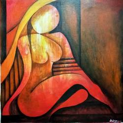 abstract, 28 x 28 inch, andriya mathew,abstract paintings,paintings for bedroom,canvas,acrylic color,28x28inch,GAL035038411