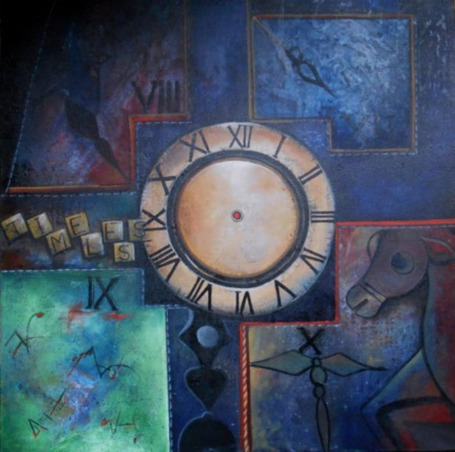 timeless journey, 40 x 40 inch, anupam  pal,abstract paintings,paintings for living room,canvas,acrylic color,40x40inch,GAL082843