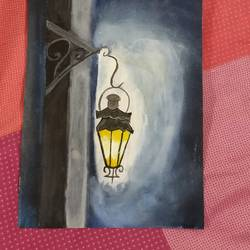 lamp, 21 x 28 inch, ana artist,paintings,figurative paintings,paintings for bedroom,thick paper,oil,21x28inch,GAL035528431