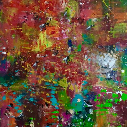 downtown christmas party , 36 x 24 inch, aatmica ojha,paintings,abstract paintings,paintings for living room,canvas,acrylic color,36x24inch,GAL026898482
