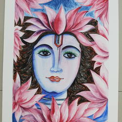 shiva, 12 x 15 inch, anupam bhardwaj,religious paintings,paintings for living room,lord shiva paintings,thick paper,watercolor,12x15inch,GAL035498493