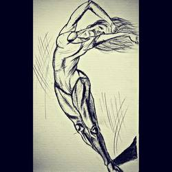 careless dance, 6 x 8 inch, devender kumar,drawings,figurative drawings,paintings for bedroom,drawing paper,graphite pencil,6x8inch,GAL020058534