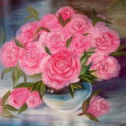 roses, 24 x 18 inch, nafisa shaikh,paintings,flower paintings,paintings for bedroom,canvas,oil,24x18inch,GAL030498544