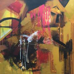 untitled, 72 x 48 inch,  shiva  kumar,paintings for living room,abstract paintings,canvas,mixed media,72x48inch,GAL036468581