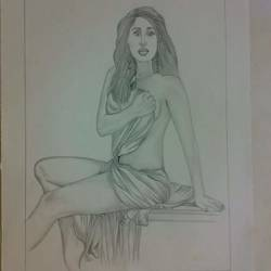 beautiful lady, 9 x 11 inch, vishnu swarnkar,photorealism drawings,paintings for living room,paper,graphite pencil,9x11inch,GAL036388597