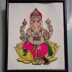 ganesha glass, 12 x 13 inch, suvashree kundu,paintings,ganesha paintings,paintings for office,acrylic glass,glass,12x13inch,GAL034638611,vinayak,ekadanta,ganpati,lambodar,peace,devotion,religious,lord ganesha,lordganpati,ganpati bappa morya,ganesh chaturthi,ganesh murti,elephant god,religious,lord ganesh,ganesha,om,hindu god,shiv parvati, putra,bhakti,blessings,aashirwad,pooja,puja,aarti,ekdant,vakratunda,lambodara,bhalchandra,gajanan,vinayak,prathamesh,vignesh,heramba,siddhivinayak,mahaganpati,omkar,mushak,mouse,ladoo,modak