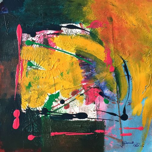 untitled, 11 x 11 inch,  shiva  kumar,paintings,abstract paintings,paintings for living room,canvas,acrylic color,11x11inch,GAL036468614