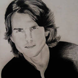 tom cruise portrait, 10 x 15 inch, akshay patil,drawings,portrait drawings,paintings for bedroom,drawing paper,graphite pencil,10x15inch,GAL036638617