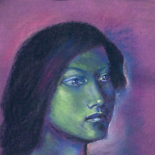 the face , 12 x 18 inch, gora chand dey,paintings,figurative paintings,paintings for living room,thick paper,mixed media,12x18inch,GAL035788654