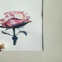 rose monted, 16 x 12 inch, nitisha kashyap,paintings,figurative paintings,paintings for living room,canvas,ink color,16x12inch,GAL036878661