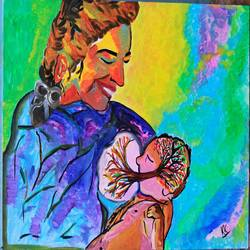 endless love, 18 x 24 inch, kaenat  kausar,paintings,figurative paintings,paintings for living room,canvas,acrylic color,18x24inch,GAL035278674