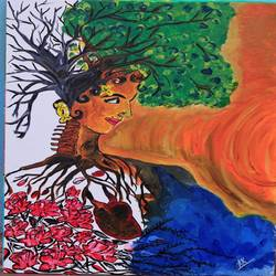 soul and mind speaking different story, 18 x 24 inch, kaenat  kausar,paintings,abstract paintings,paintings for living room,canvas,acrylic color,18x24inch,GAL035278676