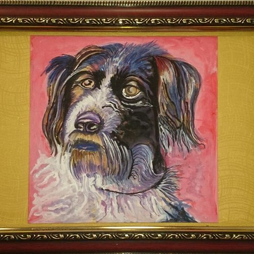puppy, 14 x 10 inch, dhinakaran ramalingam,animal paintings,paintings for bedroom,dog painting,drawing paper,watercolor,14x10inch,GAL037558764