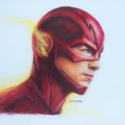 the flash (barry allen), 12 x 9 inch, shreyas pailkar,drawings,fine art drawings,paintings for living room,paper,pencil color,12x9inch,GAL026028768