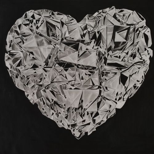 black dimond, 11 x 15 inch, kiran patil,drawings,photorealism drawings,paintings for living room,thick paper,charcoal,11x15inch,GAL038018821